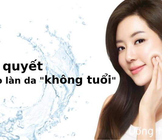 Bí quyết uống nước để làn da đẹp