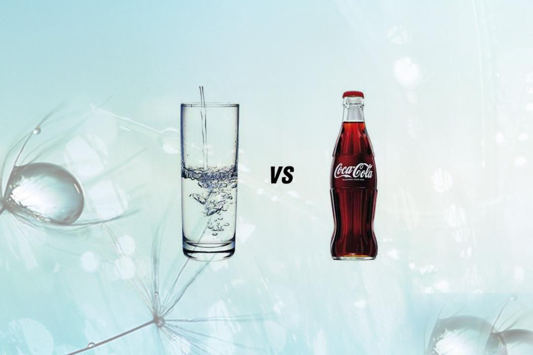 Không nên thay thế hoàn toàn nước tinh khiết bằng nước ngọt có gas