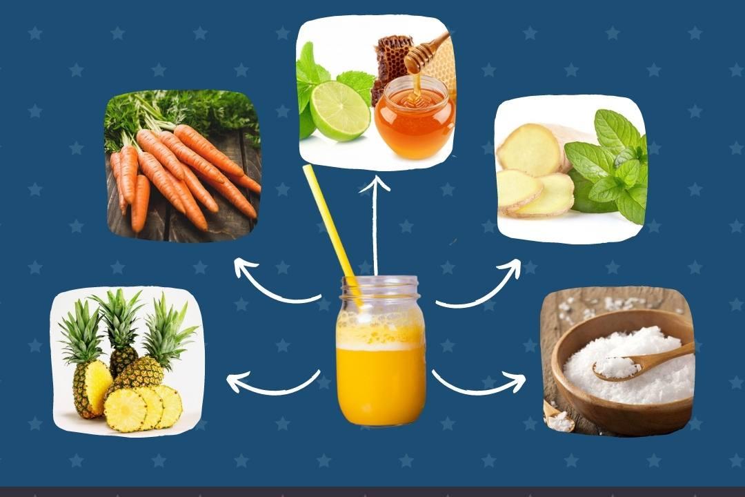 Nguyên liệu làm nước ép thơm cà rốt