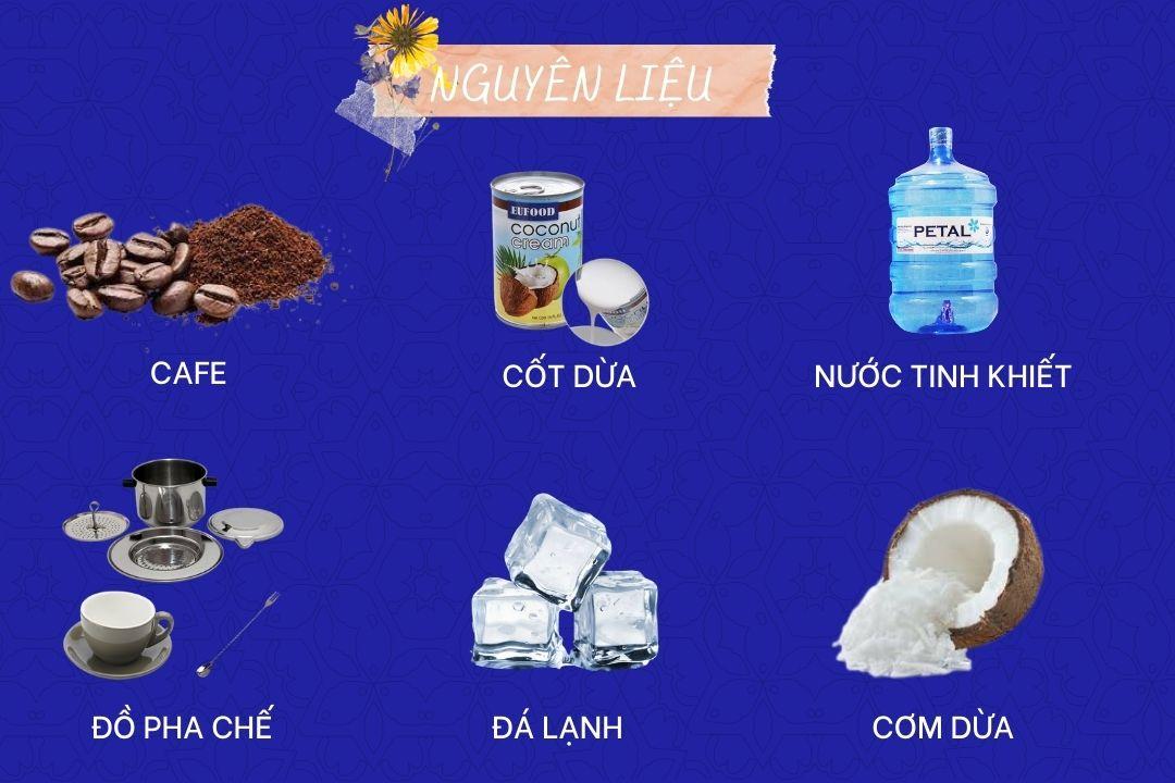 Thành phần của cafe cốt dừa