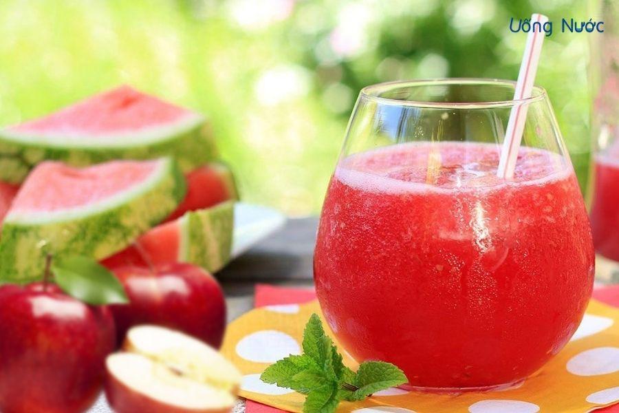Công thức nước ép dưa hấu mix táo