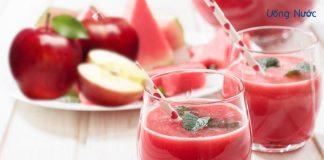 Nước ép dưa hấu mix táo