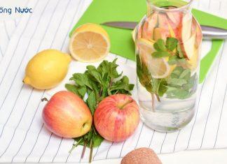 Công thức nước detox táo giảm cân an toàn